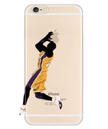 "FCM Sports Phone Case ""Black Mamba"" Basketball Clear TPU Covers For iPho... - $19.98"