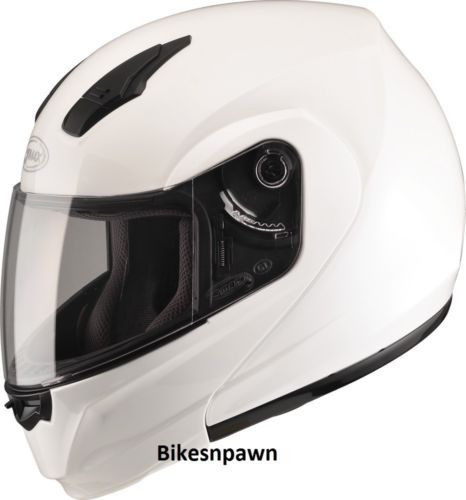 2XL GMax MD04 Pearl White Modular Street Motorcycle Helmet DOT