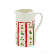 Hand-painted Decorative Ceramic Pitcher Made in Portugal - Red - $32.95