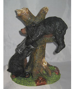 """Black BEARS Head in Trash Can Sculpture Statue Resin 11"""" high New - $43.55"""