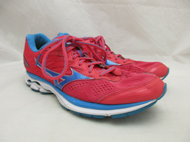 Mizuno Wave Rider 20 Running Shoes Women's Size 9.5 Pink and Blue - $18.46