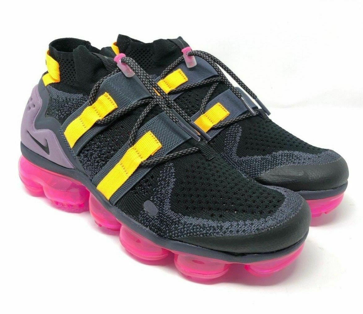 48b256b8c3e2 S l1600. S l1600. NIKE AIR VAPORMAX FK UTILITY PINK BLAST Black Men s AH6834-006  all sizes mens