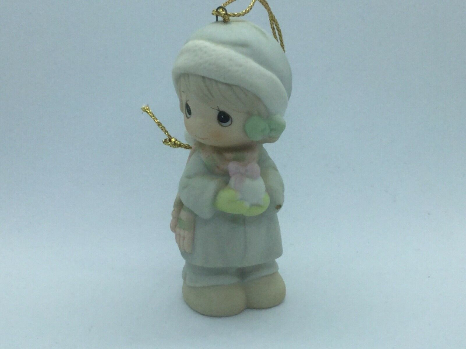 Primary image for #521302 PRECIOUS MOMENTS 1989 CHRISTMAS ORNAMENT, 1ST YEAR ISSUE, GIRL W/SNOWBAL