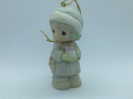 #521302 PRECIOUS MOMENTS 1989 CHRISTMAS ORNAMENT, 1ST YEAR ISSUE, GIRL W... - $14.75