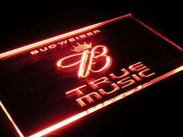 U015R Budweiser True Music Beer Bar Light Sign - $17.99