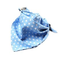 Flowers Toddle Infant Burp Cloths Double Layer Bibs Nest Solutions Blue Set of 2