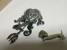 Costume Jewelry , Vintage , Pins , Sea Motif , Dog - $45.00