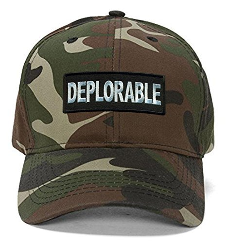 Deplorable Hat Black Adjustable Cap Funny Pro Trump (Camo)