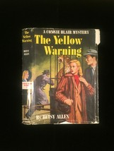 "1951 ""The Yellow Warning"" by Betsy Allen frame-ready dust jacket (no book)"