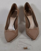 Christian Dior Womens Patent Leather Pump Classic Heels Beige 35.5 Italy - $297.00