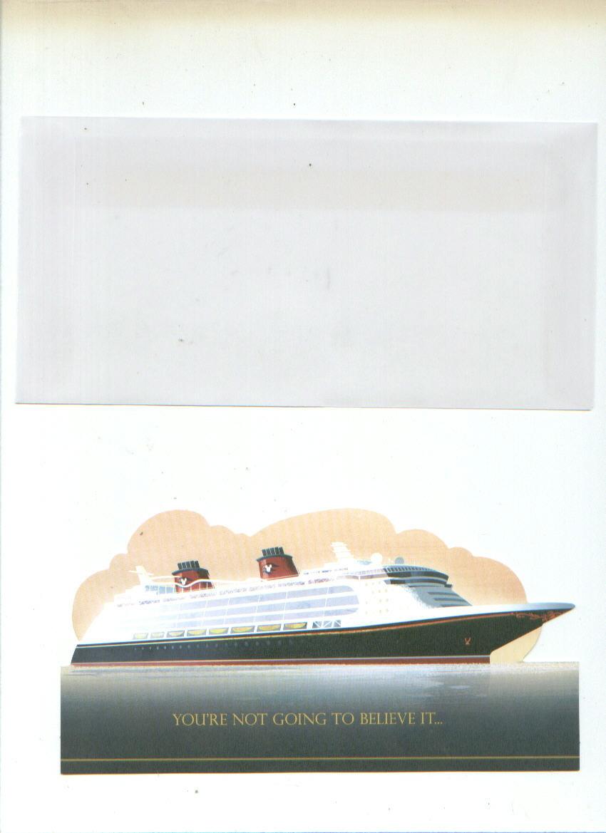 Disney cruise card