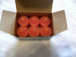 PartyLite Box Of 6 Mulled Cider Harvest Sunset Votive Candles NEW IN BOX - $12.66