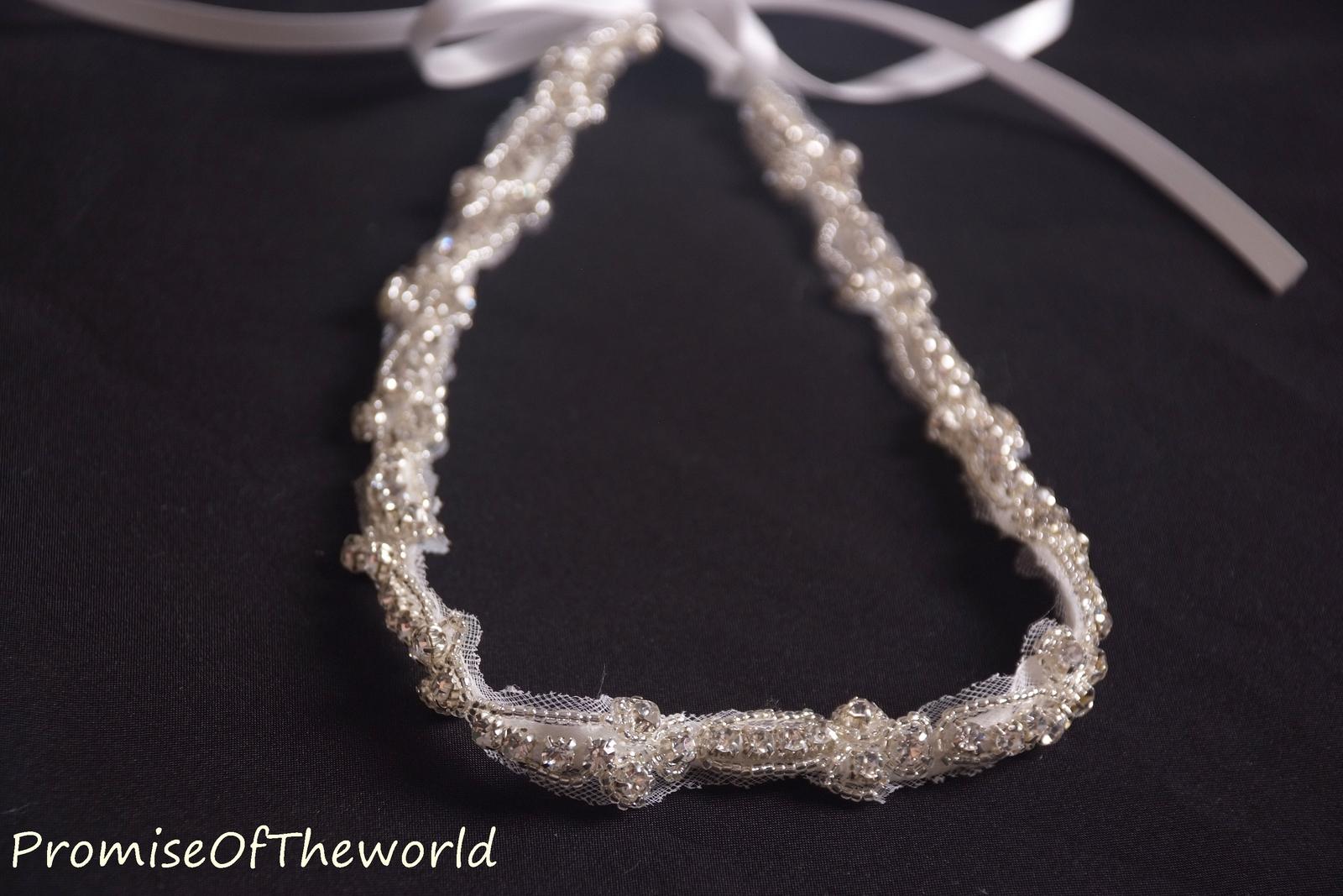 Rulou belt ribbon beading crystals & pearls waist sash for wedding dress