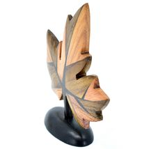 Northwoods Handmade Wooden Parquetry Canadian Maple Leaf Sculpture Figurine image 4