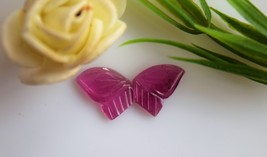 Tourmaline Butterfly Carving, Tourmaline Carving for Jewelry, Bicolor To... - $55.00