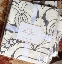 Pottery Barn Damask Shower Curtain Gray 72 Linen Fabric Floral New - $99.00