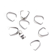 10pcs Stainless Steel Pinch Bails Clips 10x8x6mm Connectors jewelry find... - $2.49