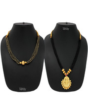 Womens Trendz Combo Pack of 2 Alloy 24K Gold Plated Alloy Necklace - $39.00