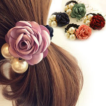 [Hairband] Vintage Style Satin Rose and Pearls Hair Band for Woman/Lady ... - $5.99
