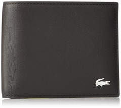Lacoste Premium Men's FG Small Billfold Wallet Credit Card Holder NH1994FG image 2