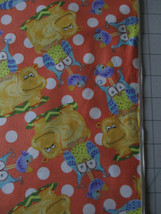 1 Yd Cotton Quilt Fabric Children Animals Hippo Owl Bird Heynen Orange Y... - $11.99