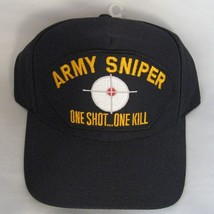 NEW Army Sniper One Shot One Kill Baseball Cap. Navy Blue. Made in USA - $16.82