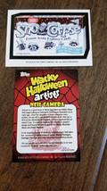 2013 Topps Wacky Pacchetti Halloween Artisti Promo Scheda Sno Corpse Nei... - $14.84