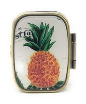 """Value Arts Metal Pill Box - Pineapple - 2 Compartment - 2.25"""" Wide - $20.09"""