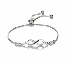 Adjustable Bridesmaid Tennis Bracelet Rhinestone Cubic Zirconia Crystals... - $3.67