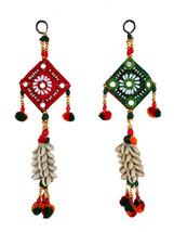 Wall Hanging ornament Christmas Diwali Handmade Kauri Bunch  work GIFT BOX - $14.66
