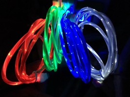 Micro USB Android Samsung LED Flashing Moving Light Charger Cable Cord 3 Ft - $6.50