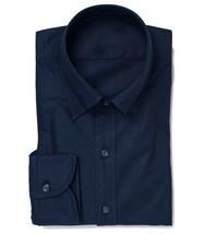 Men's Kesimo Slim Tailored Fit Long Sleeve Wrinkle Resistant Navy Dress Shirt image 1