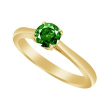 0.50 Ct Green Emerald 10k Yellow Gold Over Solitaire Wedding Engagement ... - $79.99