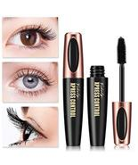 4D Silk Fiber Lash Mascara Waterproof Mascara Eyelash Thick Lengthening Cosmetic - $3.58
