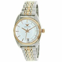 Emporio Armani Classic Women's Watch AR1630 Silver Tone Dial Two Tone Br... - $119.99