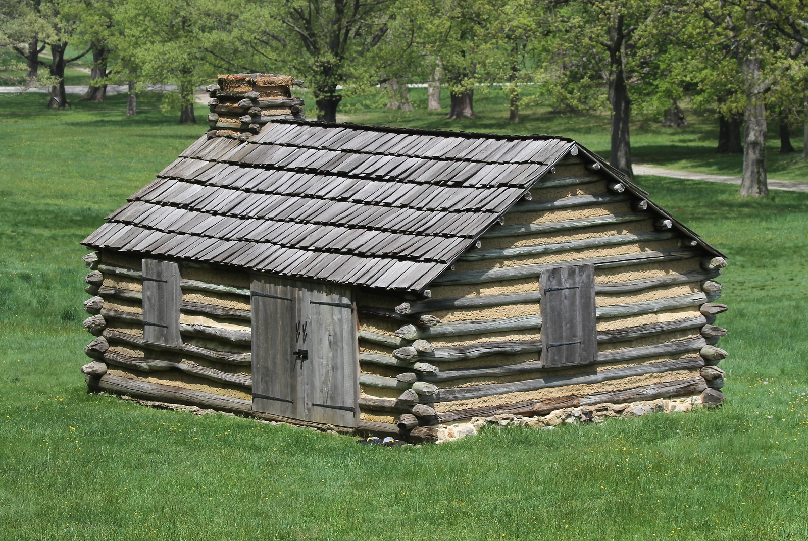 Log Cabin In Valley Forge National Park 13 x 19 Unmatted Photograph