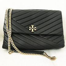 Tory Burch Kira Chevron Quilted Leather Shoulder Bag in Black image 3