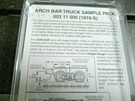 Micro-Trains Stock # 00311000 ARCH BAR Truck Sample Pack Short & Long Extension image 3