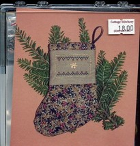 Christmas Victorian Stocking Earth Threads Cross Stitch Kit NEW - $11.67