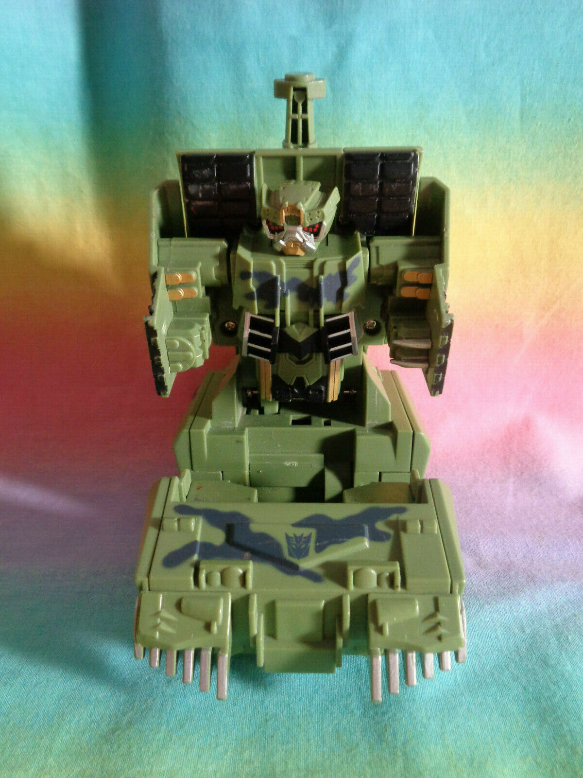Transformers 2008 Hasbro Green Army Tank Replacement Parts - as is image 6