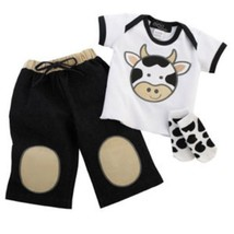 Cow Applique Three Piece Play Set - $26.00