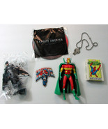 Batman/Mr Miracle figure/Punisher necklace/Spiderman card/Captain Americ... - $39.99