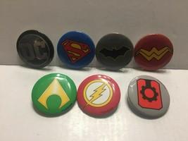 "WonderCon 2019 DC Comics All 7 Justice League Logos 1 1/4"" Mini Buttons - $4.95"