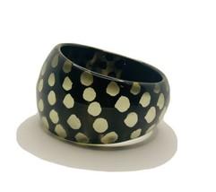 Vintage Black And White Lucite Chunky Bangle Bracelet - $36.63