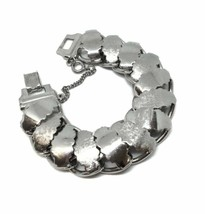 Vintage Mid Century Link Bracelet, Chunky Goth, Rocker, Industrial State... - $28.70