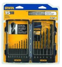 Irwin 314015 15 Piece Drill Bit Set - Black Oxide - $9.90