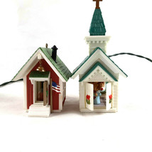 """Vintage Hallmark lighted ornament School and Church 2.5 to 3.5"""" people i... - $14.84"""