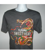 Mens Tijuana Sweet Heat Tequila T Shirt Large Rattlesnake cotton poly blend - $22.72