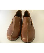 Womens Clarks Bendables Brown Leather Upper Slip on Loafer Shoes Size 11M - $21.99