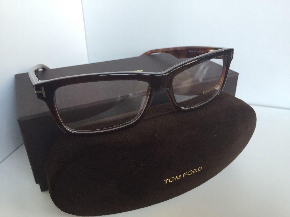 New Tom Ford TF 5146 050 54mm Rx Black Brown Men's Eyeglasses Frame